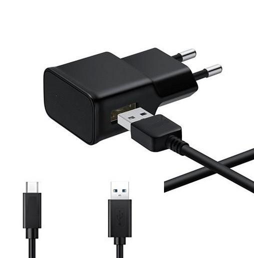 Chargeur 220v avec Cable TYoe C 2000mAh Noir
