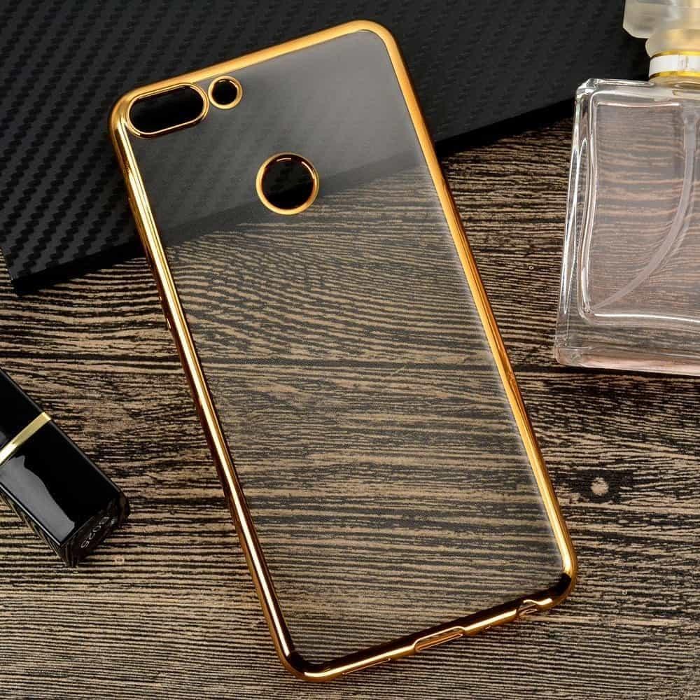 Coque Huawei P Smart Silicone Chromée Or