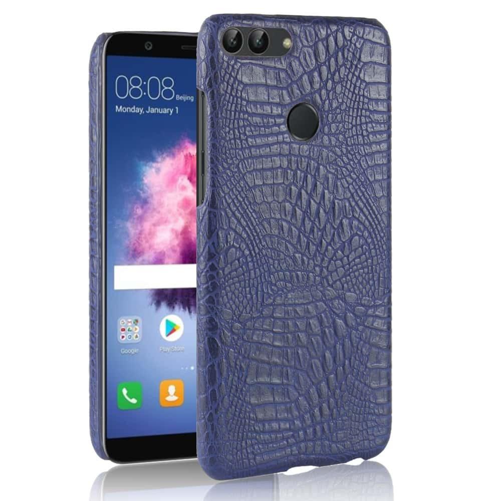 Coque Huawei P Smart Cuir Bleu