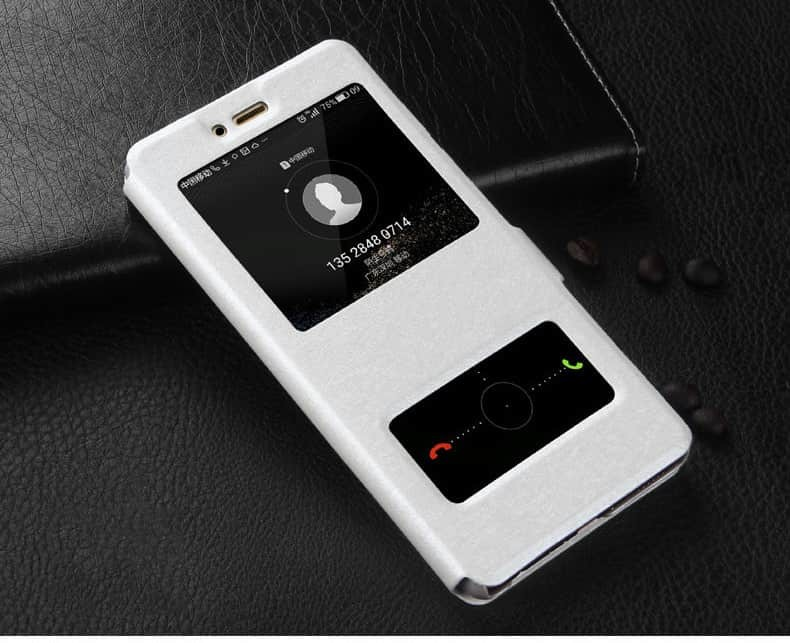 Etuis Portefeuille Huawei Mate 10 Lite fonction Support blanche