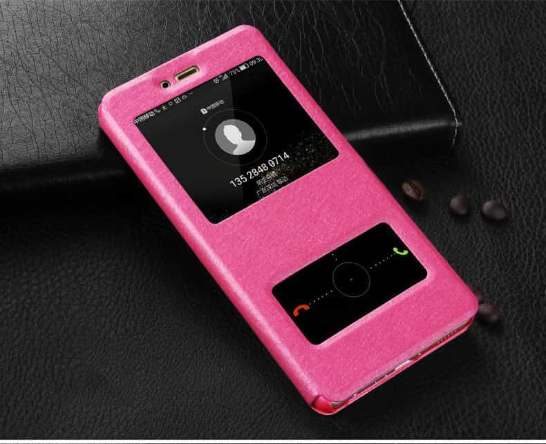 Etuis Portefeuille Huawei P Smart fonction Support rose