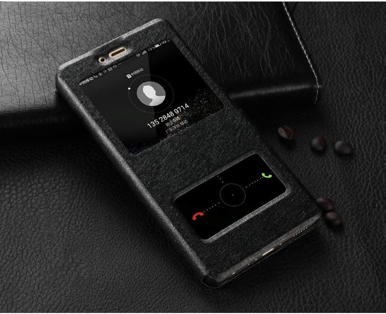 Etuis Portefeuille Huawei P Smart fonction Support noir