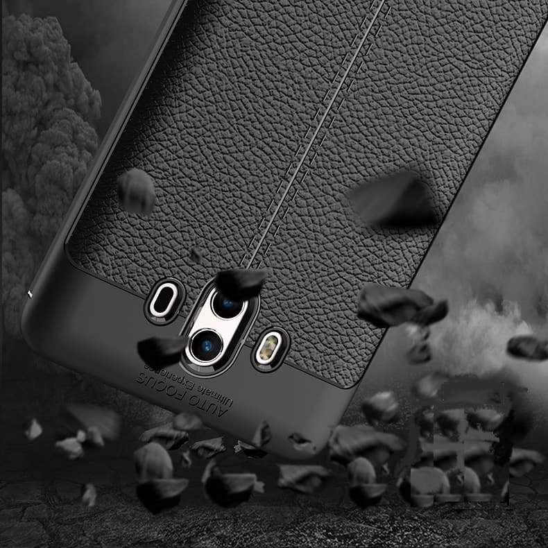 Coque Silicone Huawei Mate 10 Cuir 3D
