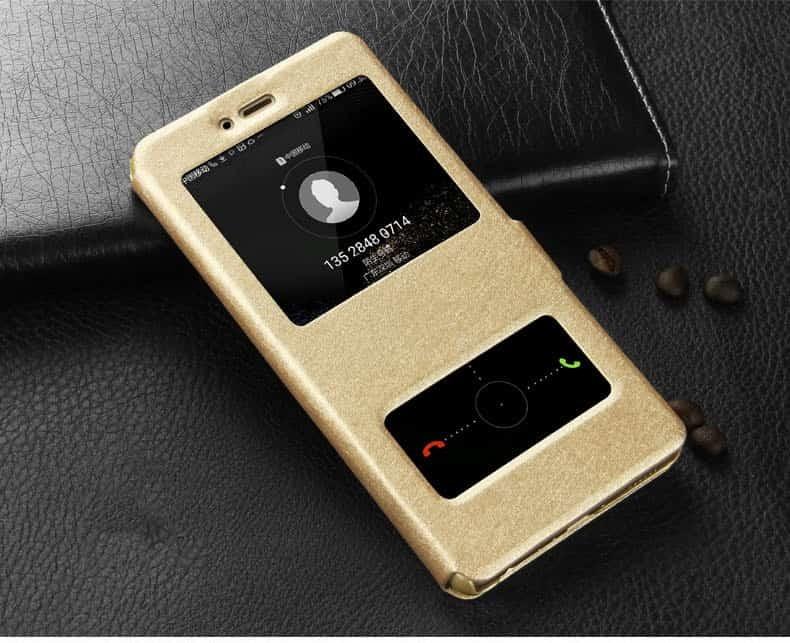 Etuis Portefeuille Huawei P Smart fonction Support dorée
