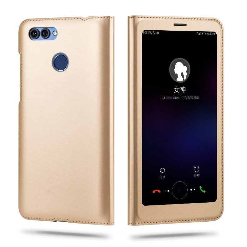 Etuis Portefeuille Huawei P Smart Cover Vision Or