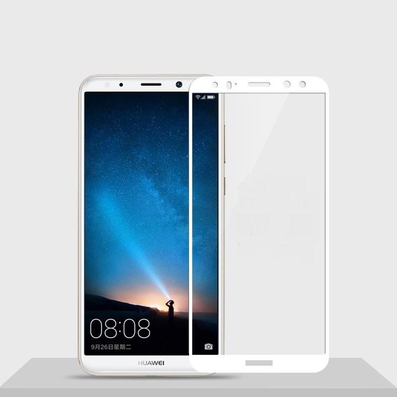 Verre trempé Huawei Mate 10 Lite Blanc Protecteur d'écran