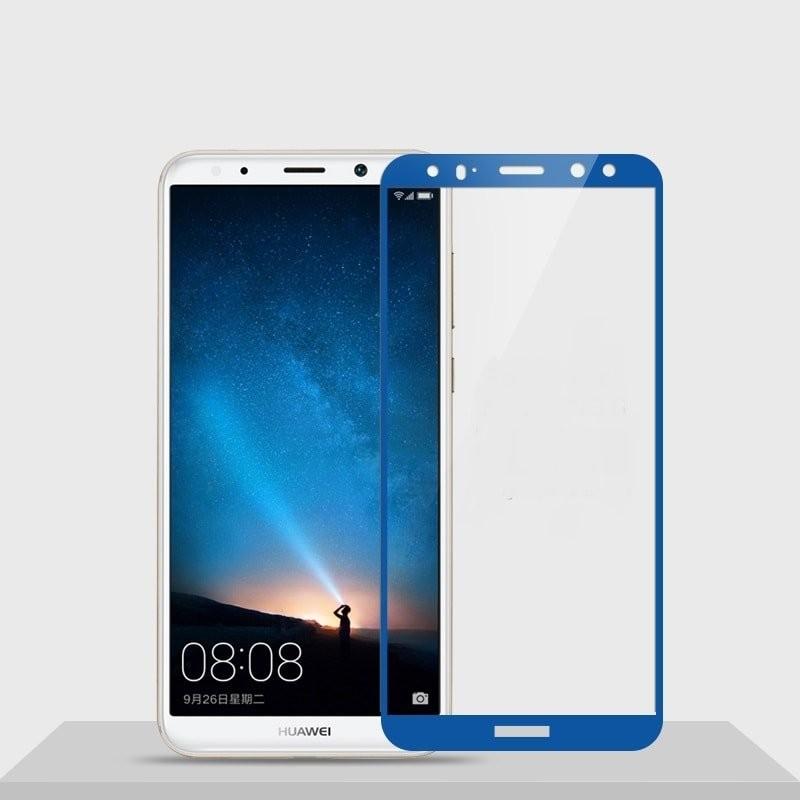 Verre trempé Huawei Mate 10 Lite Bleu Protecteur d'écran