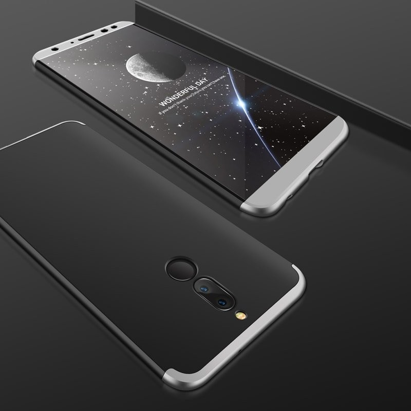 Coque 360 Huawei Mate 10 Lite Noir et Gris.