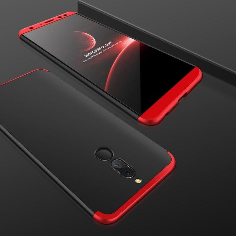 Coque 360 Huawei Mate 10 Lite Noir et Rouge.