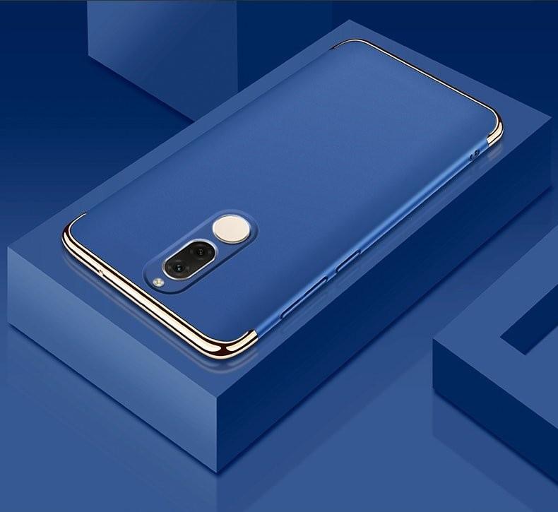 Coque Huawei Mate 10 Lite Rigide Chromé Bleu