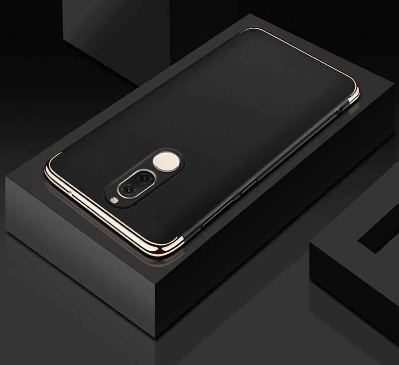 Coque Huawei Mate 10 Lite Rigide Chromé Noir
