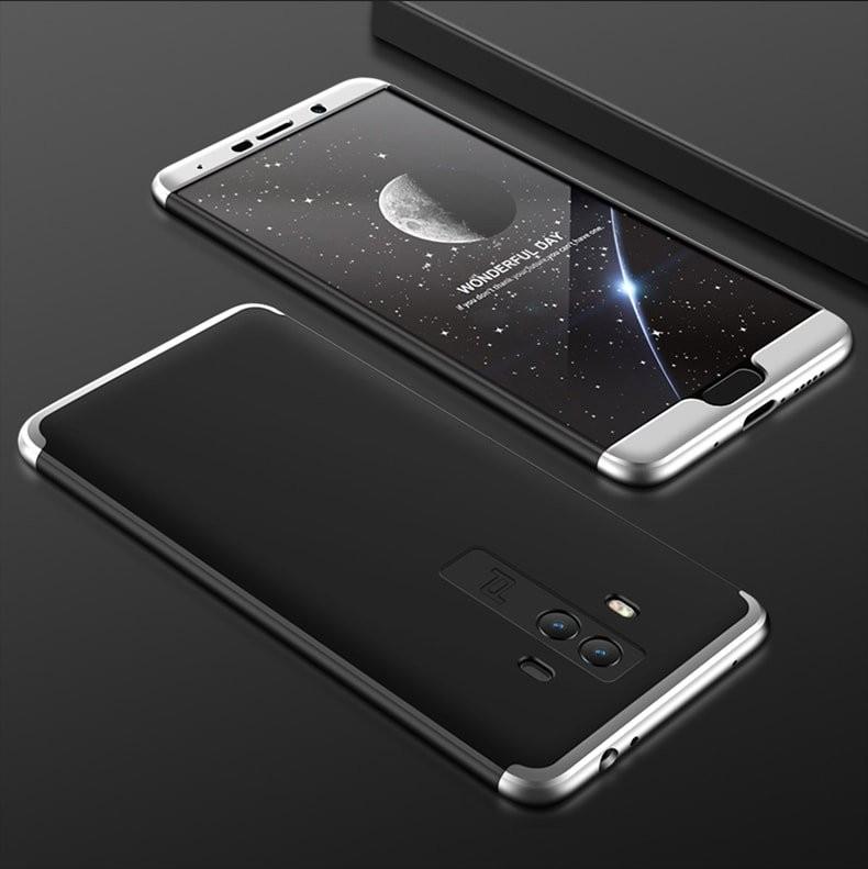Coque Huawei Mate 10 360º noir et grise