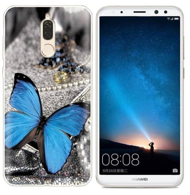 Coque Silicone Huawei Mate 10 Lite Papillon