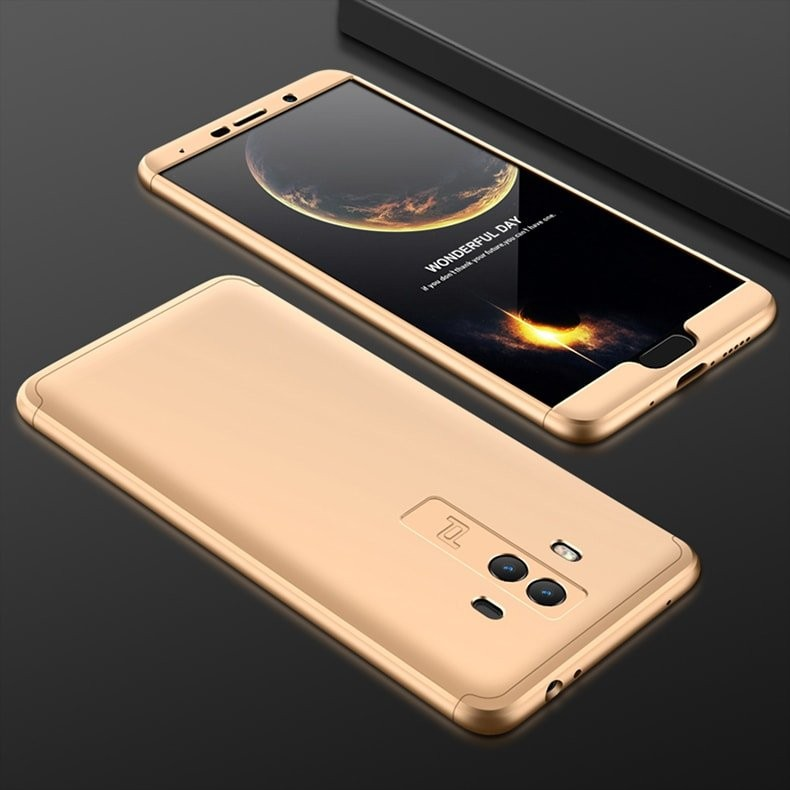 Coque Huawei Mate 10 360º dorée