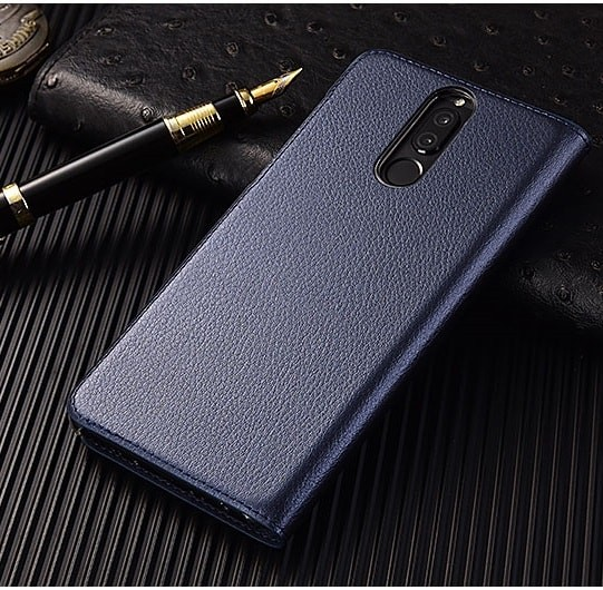 Etuis Portefeuille Huawei Mate 10 Lite Cover Vision Bleu