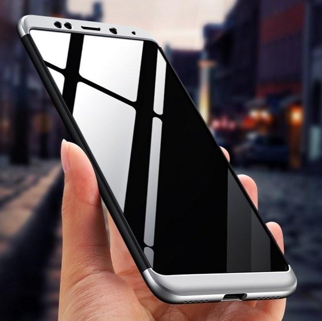 Coque 360 Xiaomi Redmi 5 Plus Noir et Gris.