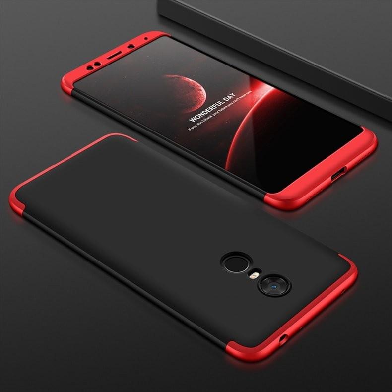 Coque 360 Redmi 5 Plus Noir et rouge.