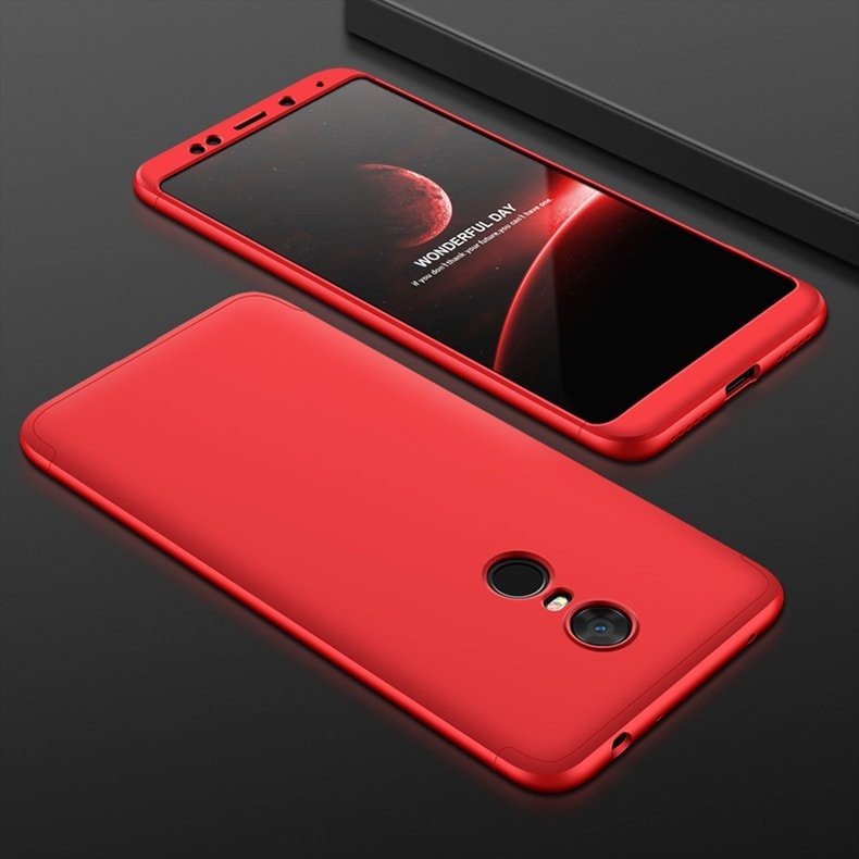 Coque 360 Redmi 5 Plus Rouge