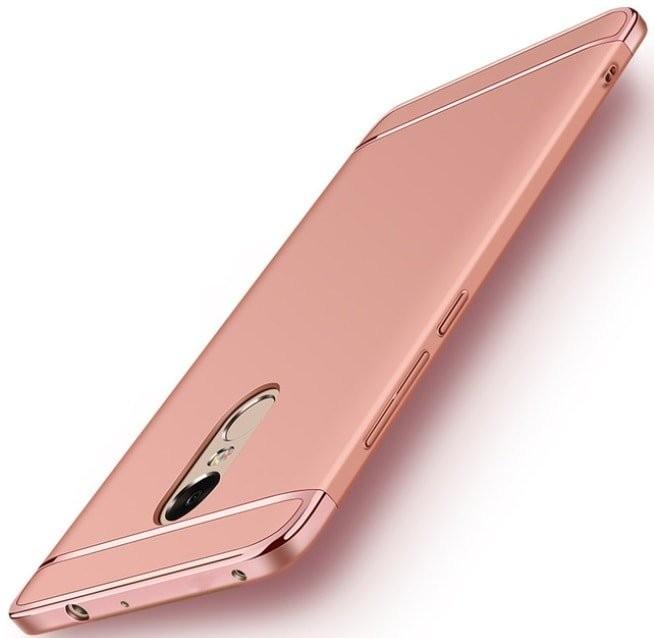 Coque Xiaomi Redmi 5 Plus Rigide Chromée Rose.