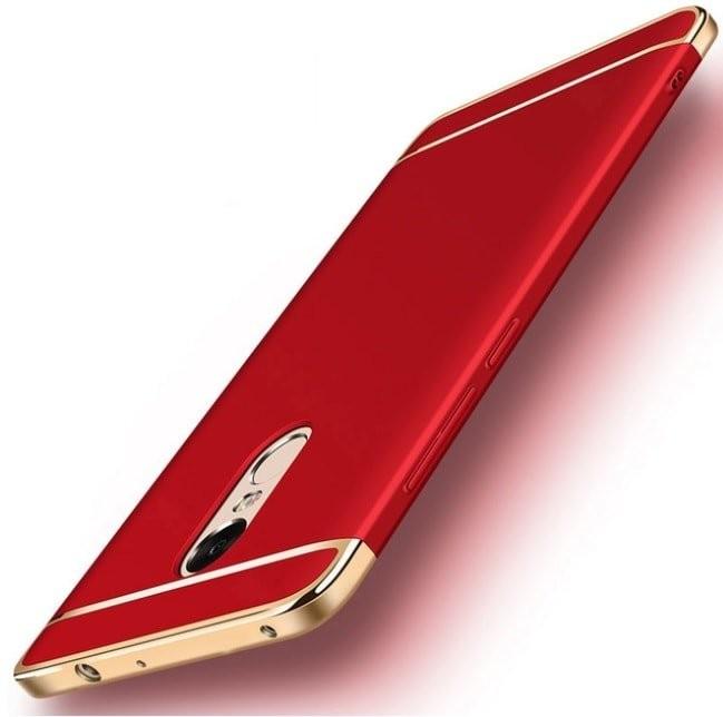 Coque Xiaomi Redmi 5 Plus Rigide Chromée Rouge.