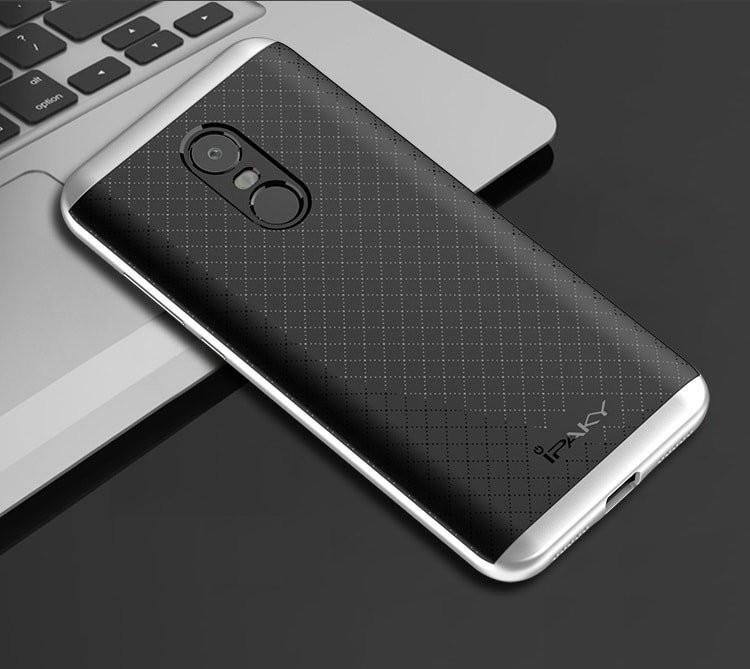 Coque Xiaomi Redmi 5 Plus Armure Ipaky gris argent