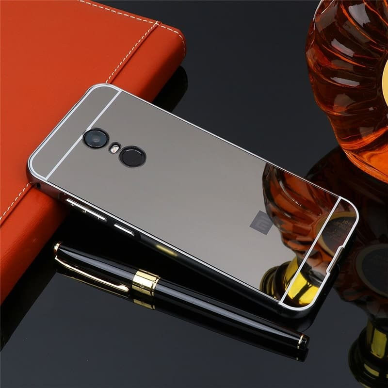 Bumper Xiaomi Redmi 5 Plus Aluminium Mirroir Gris Antracite