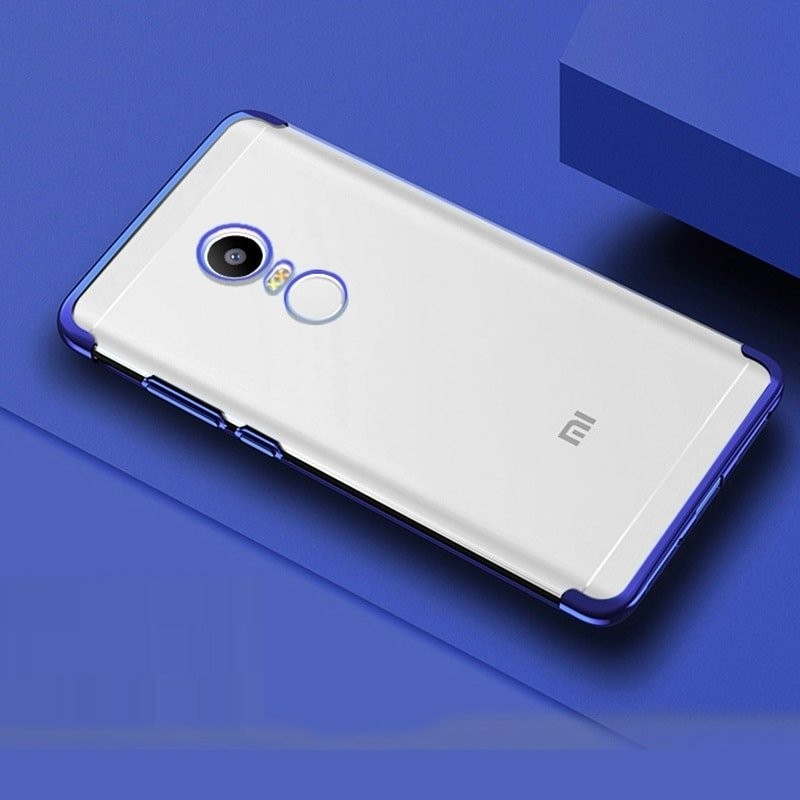 Coque Xiaomi Redmi 5 Plus Silicone Chromée Bleue