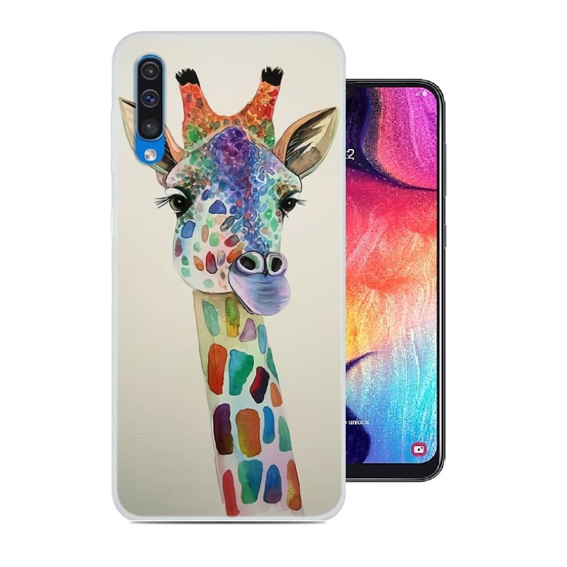 coque samsung a50 girafe
