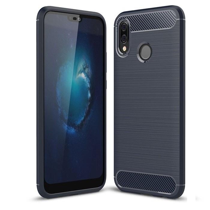 Coque Silicone Huawei P20 Lite Brossé Bleu