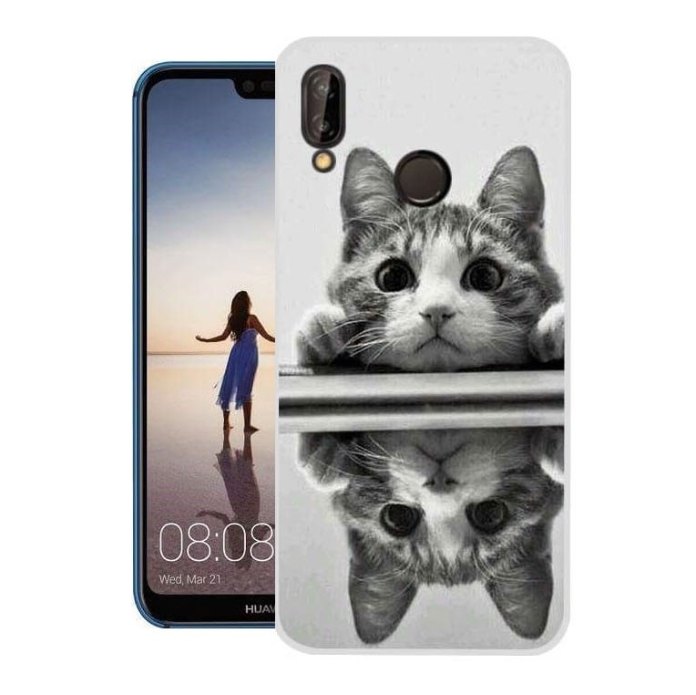 Coque Silicone Huawei P20 Lite Chat