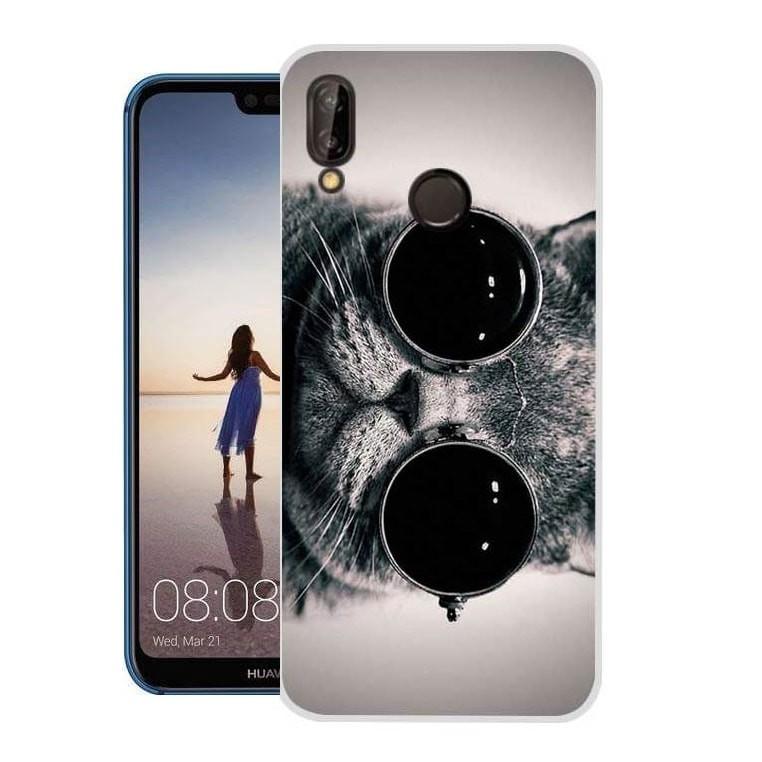 Coque Silicone Huawei P20 Lite Chaton