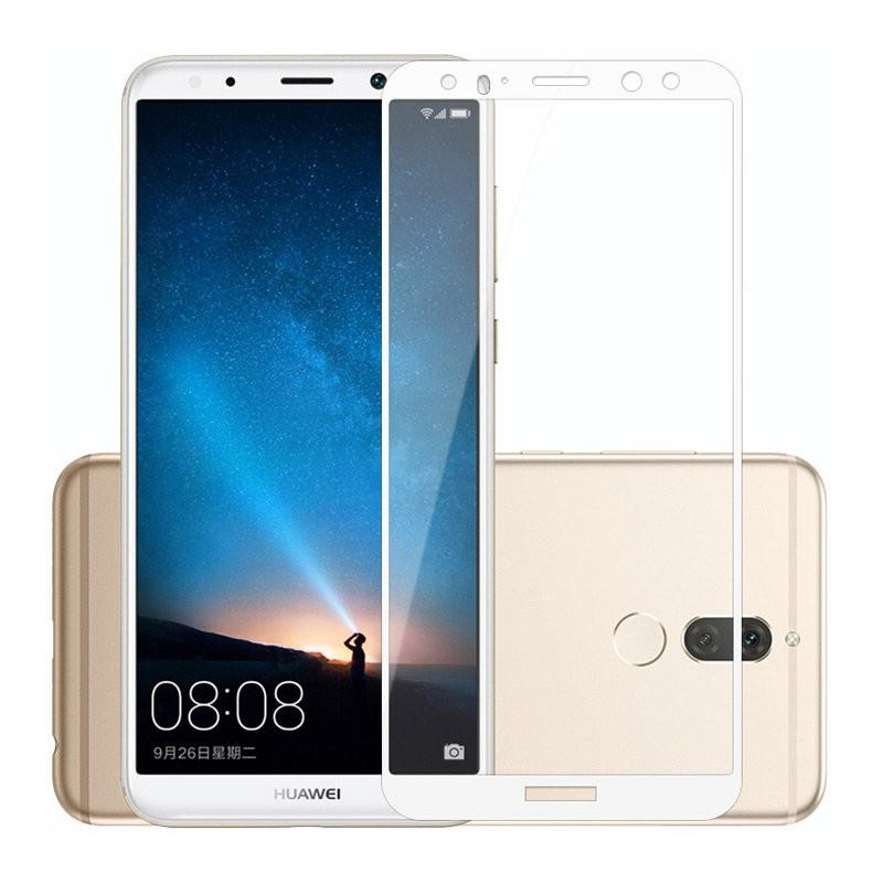 Verre trempé Huawei Mate 10 Blanc Protecteur d'écran