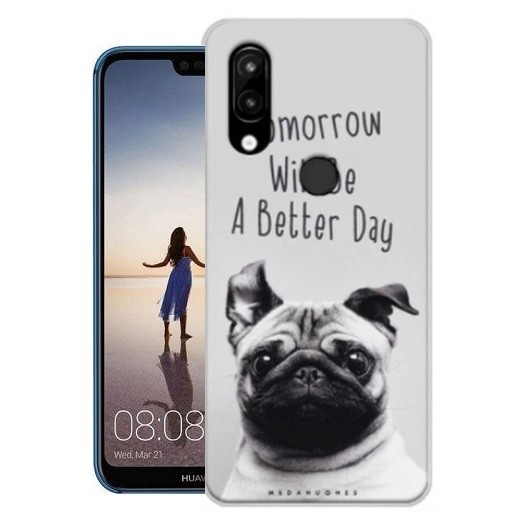 Coque Silicone Huawei P20 Lite Chien
