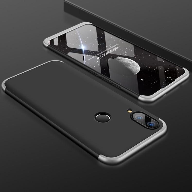 Coque 360 Huawei P20 Lite Noir et Gris.