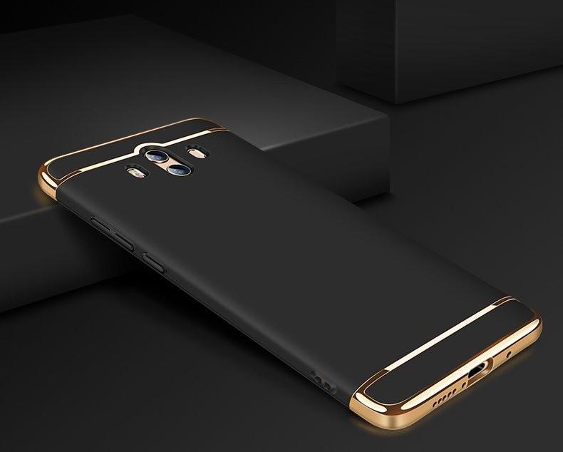 Coque Huawei Mate 10 Rigide Chromé Noir