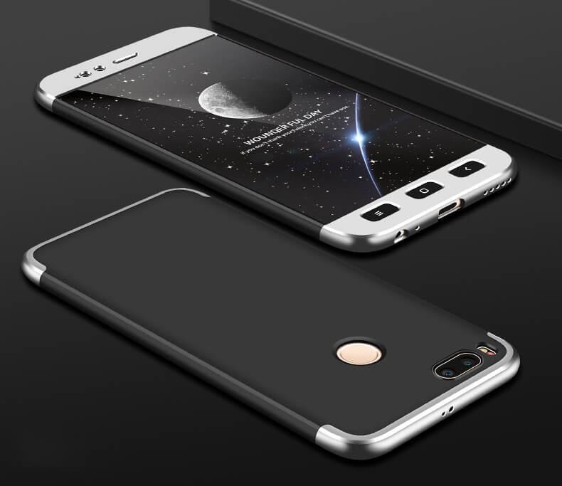 Coque 360 Xiaomi Mi A1 Noir et Gris.