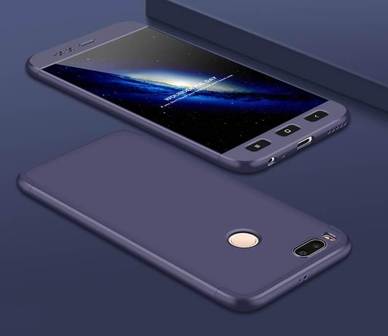 Coque 360 Xiaomi Mi A1 Bleu.