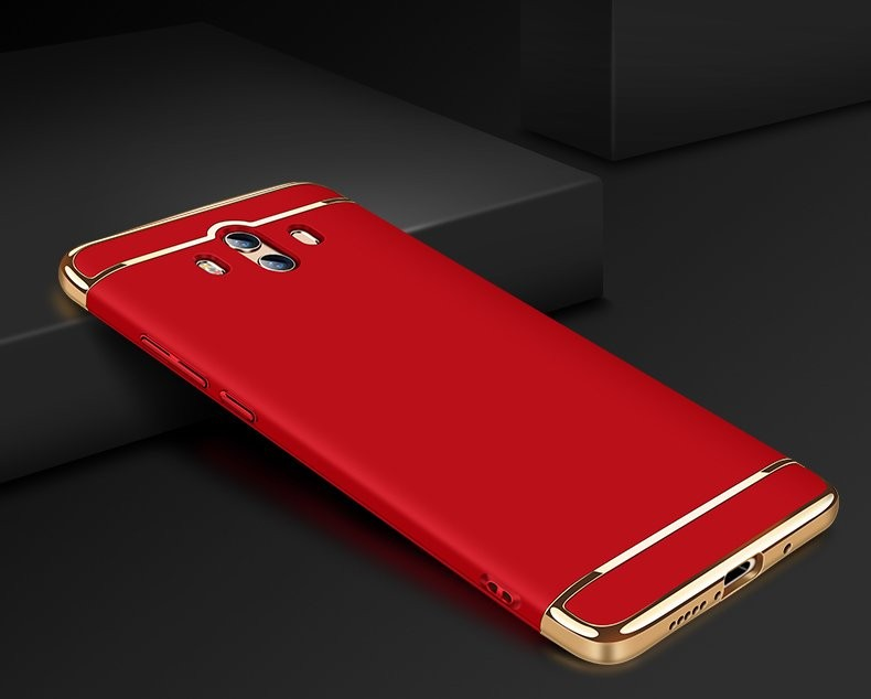 Coque Huawei Mate 10 Rigide Chromé Rouge