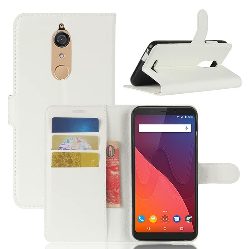 Etuis Portefeuille Wiko View Fonction Support Blanc