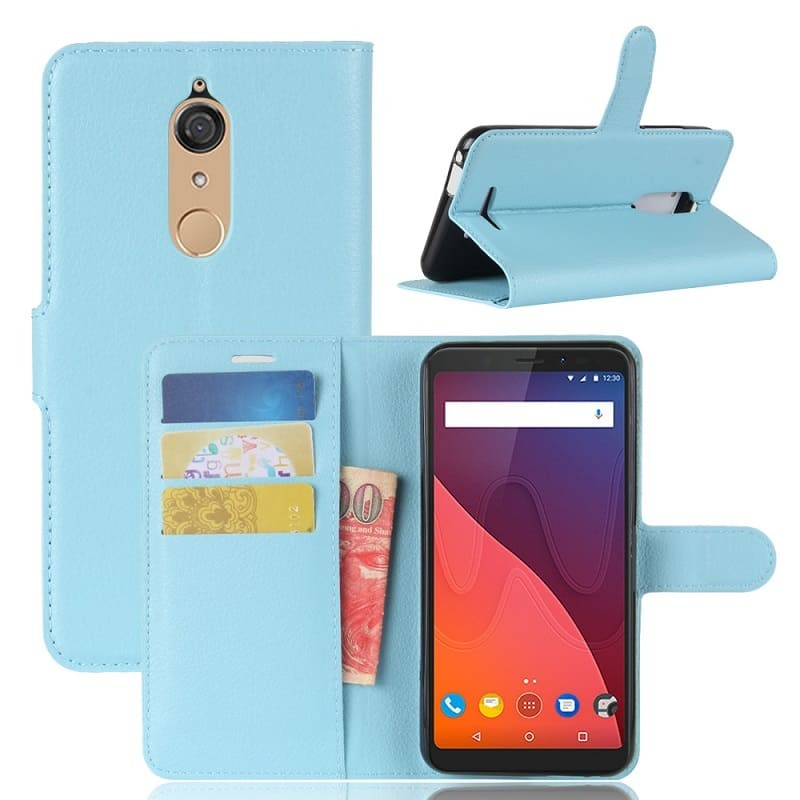 Etuis Portefeuille Wiko View Fonction Support Bleu