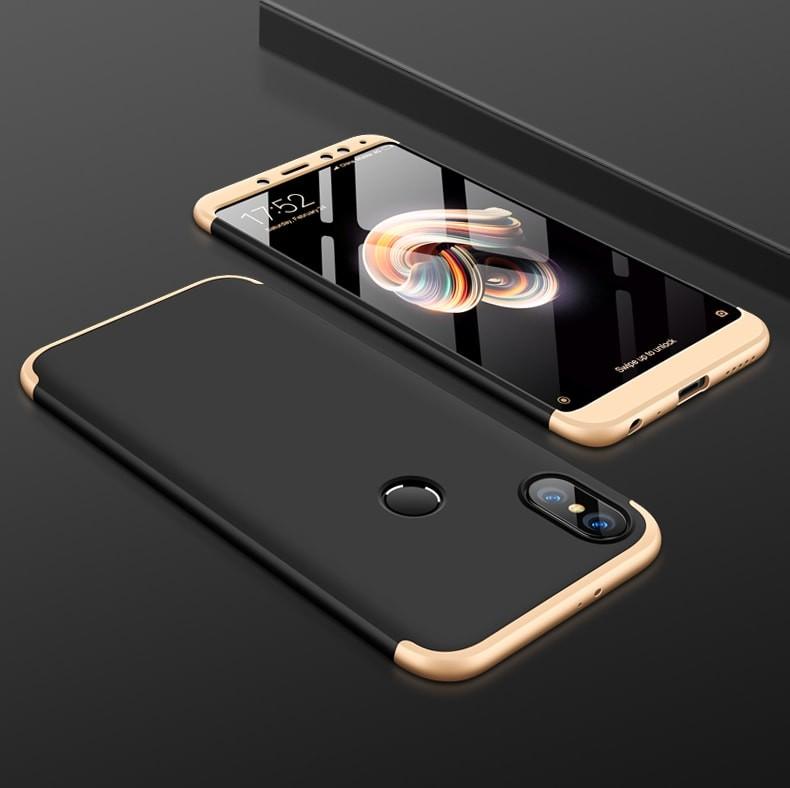 Coque 360 Xiaomi MI 6X Noir et Or.