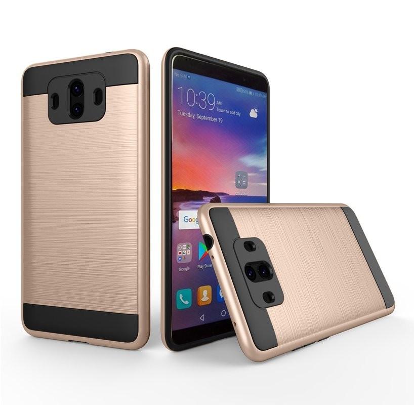 Coque Huawei Mate 10 Hybride Dual Dorée