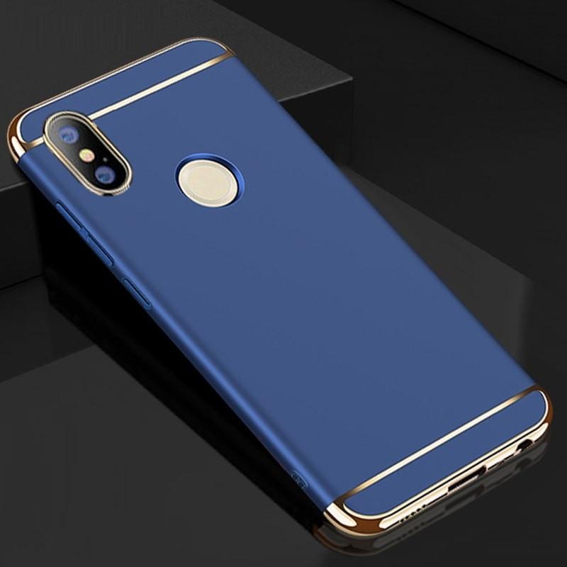 Coque Xiaomi Redmi Note 5 Pro Rigide Chromée Bleue.