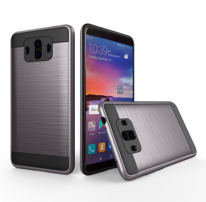 Coque Huawei Mate 10 Hybride Dual Grise