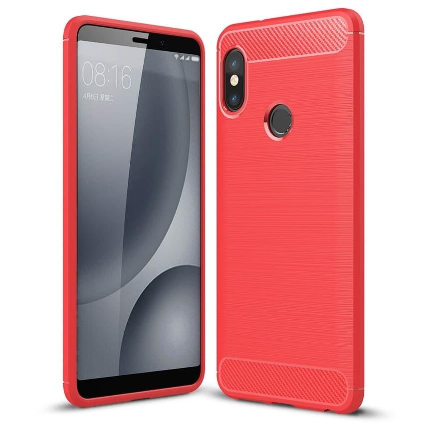 Coque Silicone Xiaomi Redmi Note 5 Brossé Rouge
