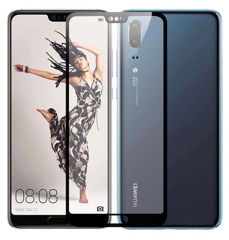 Verre trempé Huawei P20 Noir Protecteur d'écran