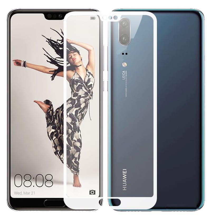 Verre trempé Huawei P20 Blanc Protecteur d'écran