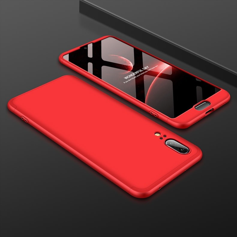 Coque 360 Huawei P20 Rouge.