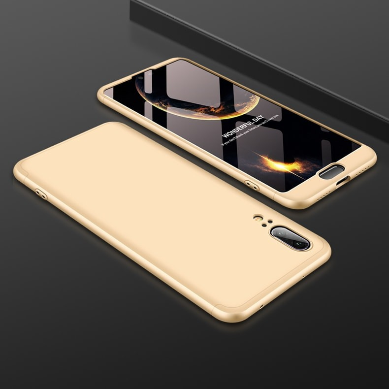 Coque 360 Huawei P20 Or.