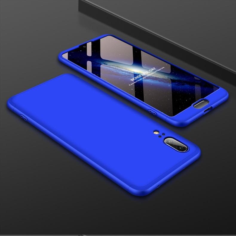 Coque 360 Huawei P20 Bleu.